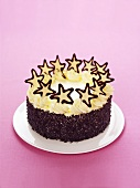 Buttercream cake with chocolate stars