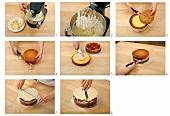 Making a buttercream cake