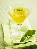 Mango Martini with basil
