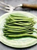 French beans on plate