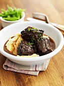 Braised oxtail with mashed potato
