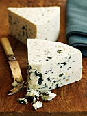 Danish Blue (also called Danablu), semi-soft blue cheese from Denmark