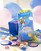 Party bag and gifts at a children's party