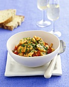 King prawns with tomatoes and parsley