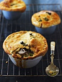 Small chicken and leek pies