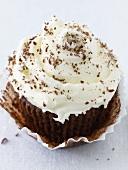 Iced chocolate cupcake