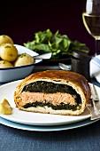 Salmon fillet in pastry