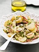 Potato and radish salad with dill