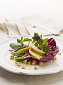 Radicchio, pear and watercress salad with hazelnut dressing