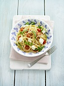 Linguine with goat's cheese