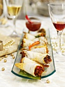 Thai curry wraps for Christmas