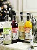Various cocktails (bought products) in bottles for Christmas