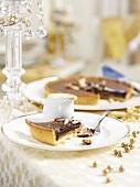 Chocolate tart for Christmas