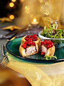 Pork pies with cranberries for Christmas