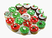 Lots of Christmas fairy cakes