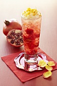 Pomegrante and apple cocktail