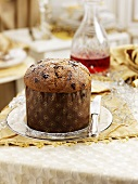 Panettone (traditional Italian Christmas cake)