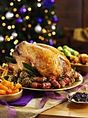 Roast turkey with all the trimmings for Christmas