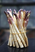 A bundle of white asparagus