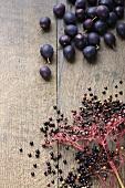 Damsons and elderberries