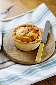A goats' cheese and vegetable pie