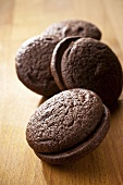 Chocolate whoopie pies (without filling)