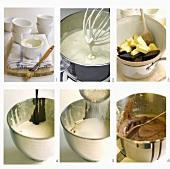 English chocolate pudding being prepared
