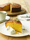 Honey and polenta cake