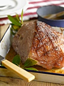Honey-glazed roast ham