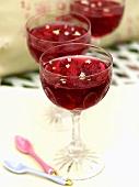 Raspberry jelly with elderflowers
