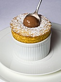 Souffle with chocolate ice cream