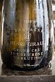 A bottle of Giraud Grand Cru champagne