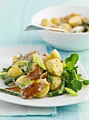 Potato salad with mackerel