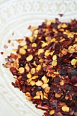 Dried chilli flakes