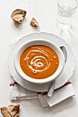 Cream of tomato soup with sour cream