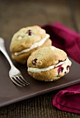 Cranberry-orange Whoopie Pies, filled white chocolate cream