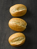 Three bread rolls (seen from above)