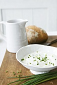 Chive quark and bread