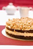 Walnut and buttercream tart