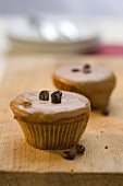 Cupcakes with mocha beans