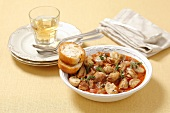 Marengo veal ragout with mushrooms (France)