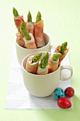Ham and asparagus rolls for Easter