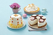 Three different Easter cakes