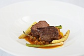Veal cheeks with chickpeas