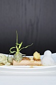 Char fillet with langoustine vinaigrette and cauliflower