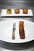Caramelised pork belly with Anna potatoes