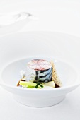 Mackerel in roast onion broth