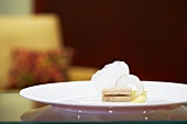 Goose liver with foam