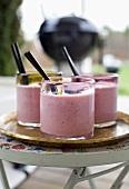 Raspberry shakes with liquorice