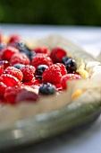 Mascarpone tart with fresh berries (detail)
